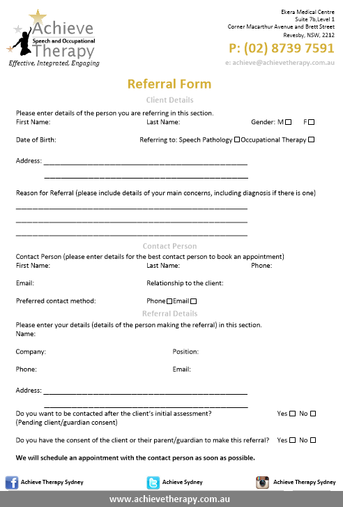 referrals form